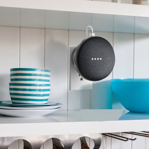 alt={Google Home Mini}{wall mount}-{G2}- carbon black