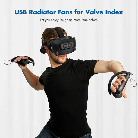 Q19 - KIWI design USB Radiator Fans Accessories for Valve Index, Cooling Heat for VR Headset in the VR Game and Extends the Life of Valve Index