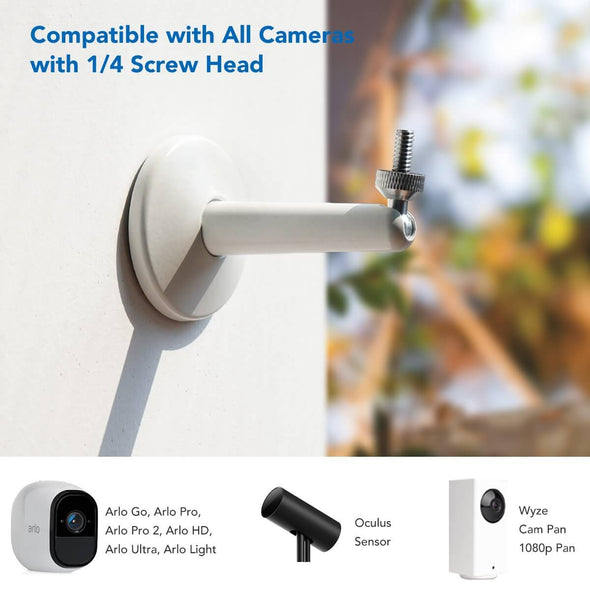S1 - Camera Wall Mount Bracket 2 Packs (White)