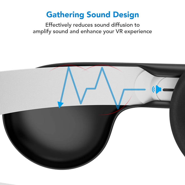 Q9 - KIWIdesign A Enhancing Sound Solution for Oculus Quest (Black, 1 Pair)