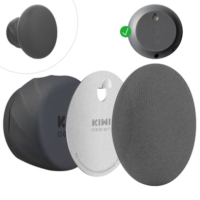 G2.2 - KIWI design Wall Mount Holder for Nest Mini by Google (2nd gen)(Black)