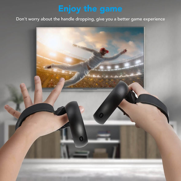 Q1 - KIWIdesign Knuckle Strap for Oculus Quest 1/Rift S Touch Controller Accessories(Black,1 Pair)