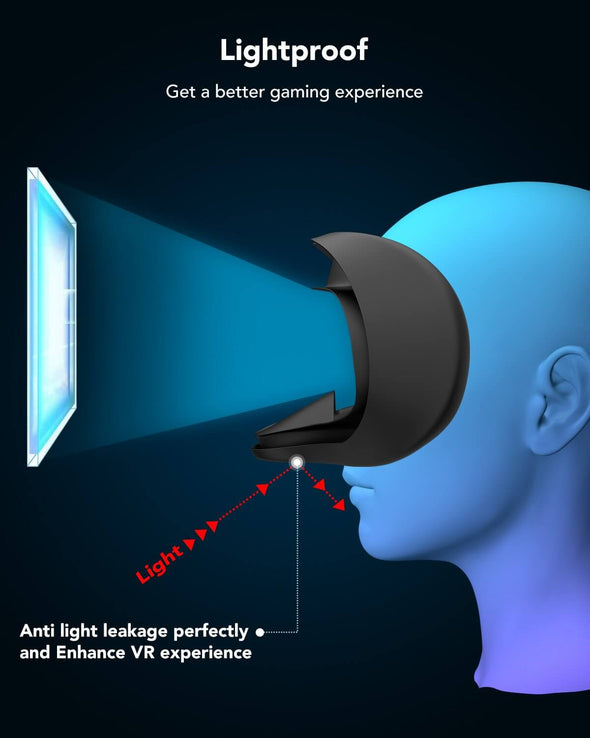 Q7 - KIWI design VR Silicone Face Cover Pad for Oculus Quest 1 Gaming Headset