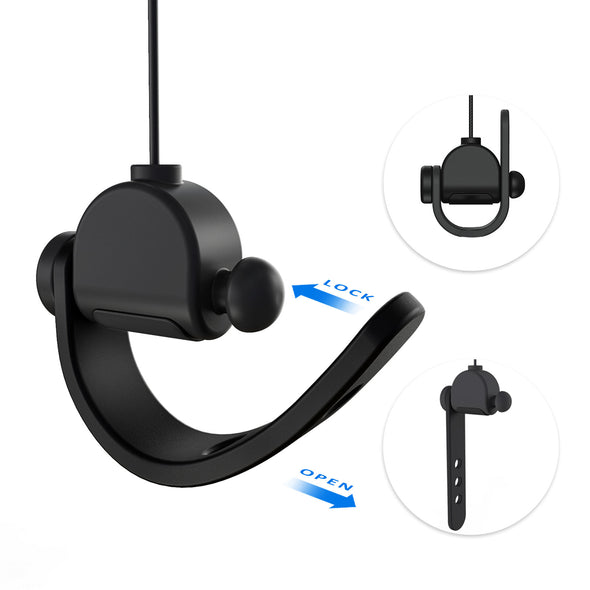 V2 - KIWI design Silent VR Cable Management Pulley System for HTC Vive/Vive Pro/Oculus Rift/Rift S/Link Cable for Oculus Quest/Quest 2/Valve Index VR Accessories, 6 Packs (Black)