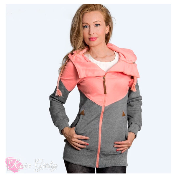 Sweet gilet à capuche rose - RoseGirly