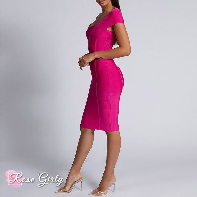 Robe Rose <br> Une Manche