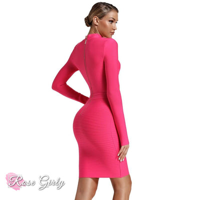 Robe Rose Manches Longues | RoseGirly