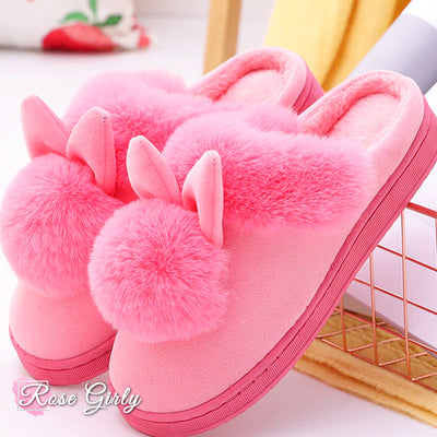 Chaussures Roses <br> Pantoufle Lapin