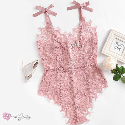 Body sexy rose en dentelle | RoseGirly