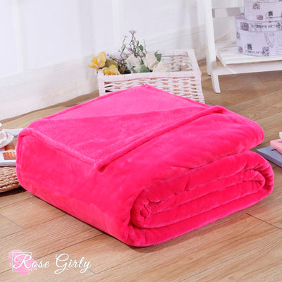 Plaid couverture rose - RoseGirly