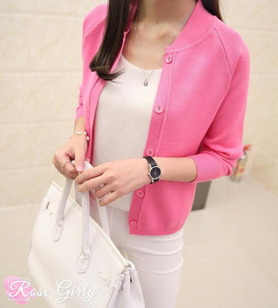 Gilet tendance rose-RoseGirly