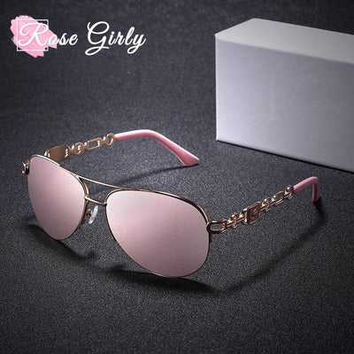 rosegirly - lunette pilote rose
