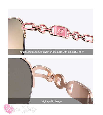 rosegirly - lunette pilote rose pale