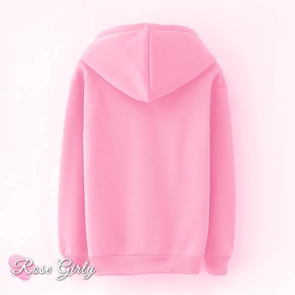 Sweat capuche rose - RoseGirly
