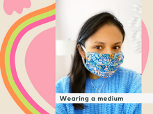 Load image into Gallery viewer, Rose Blue Medium Face Mask MADE-TO-ORDER