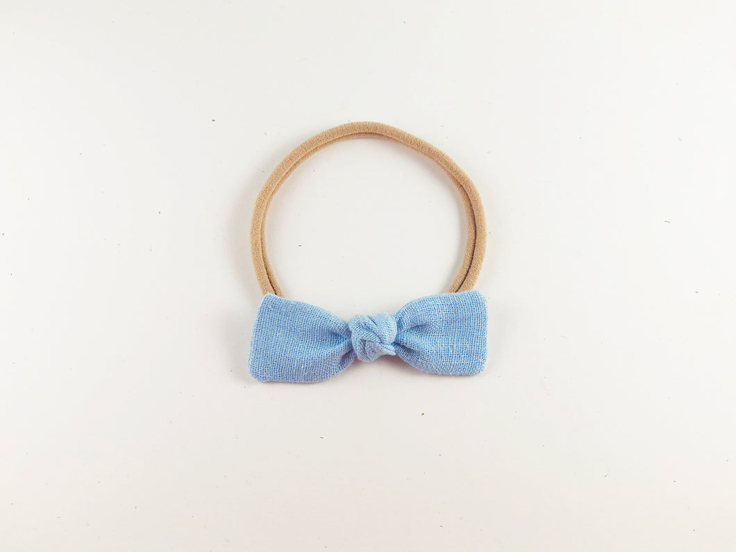Beau Blue Linen // Mini Knot