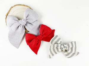 Simply Red Linen // Mini Pinwheel