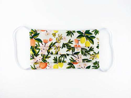 Citrus Floral Large Face Mask MADE-TO-ORDER