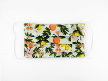 Load image into Gallery viewer, Citrus Floral in Mint Medium Face Mask MADE-TO-ORDER