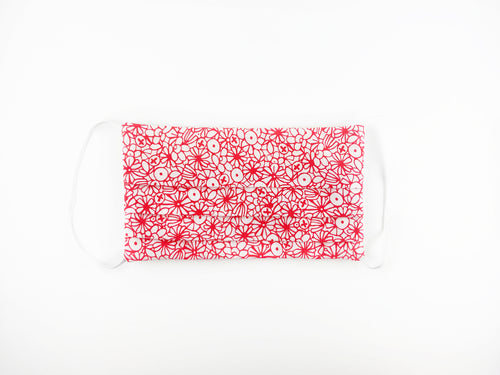 Red Floral Medium Face Mask PRE-ORDER// Ships Aug 12