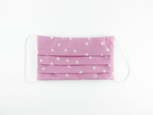 Mauve Stars Large Face Mask MADE-TO-ORDER