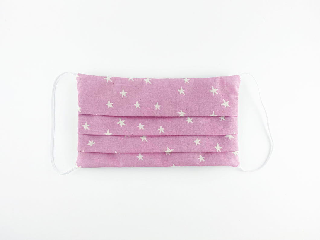 Mauve Stars Large Face Mask PRE-ORDER// Ships Aug 12