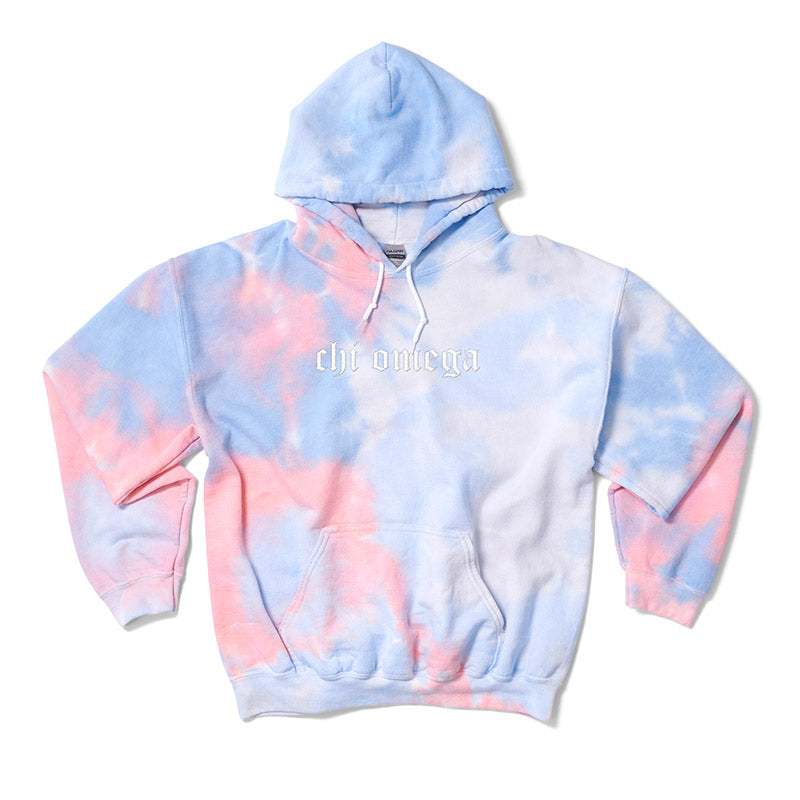 Coral Old English Embroidered Hoodie