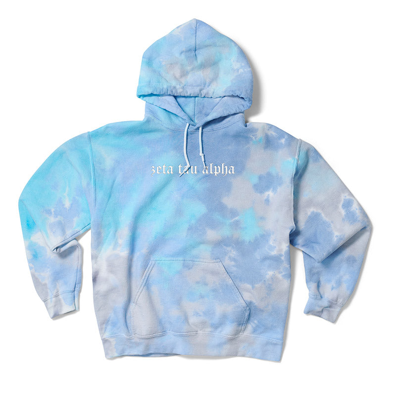 Turq Dream Old English Embroidered Hoodie