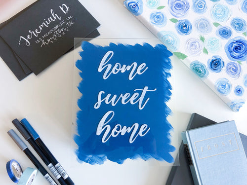 Home Sweet Home Glass Sign