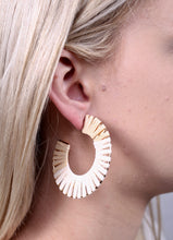 Load image into Gallery viewer, Panama Raffia Hoops