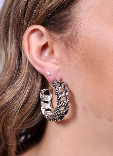 Designer Dupe Chain Hoops