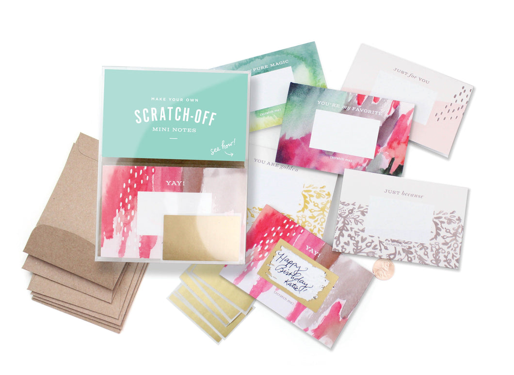 Scratch-off Mini Notes Set