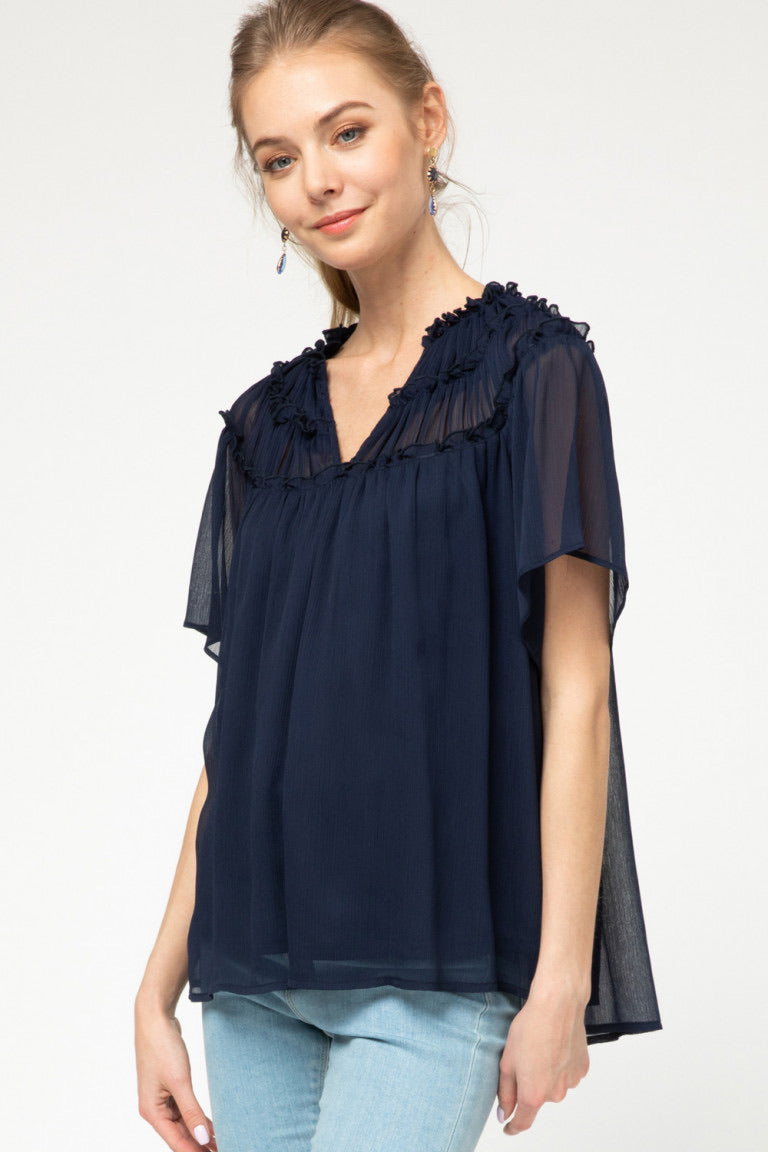 Navy Nights Top