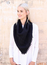 Load image into Gallery viewer, Pom Pom Loop Scarf - multiple colors
