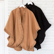 Load image into Gallery viewer, Pleated Poncho/Cape