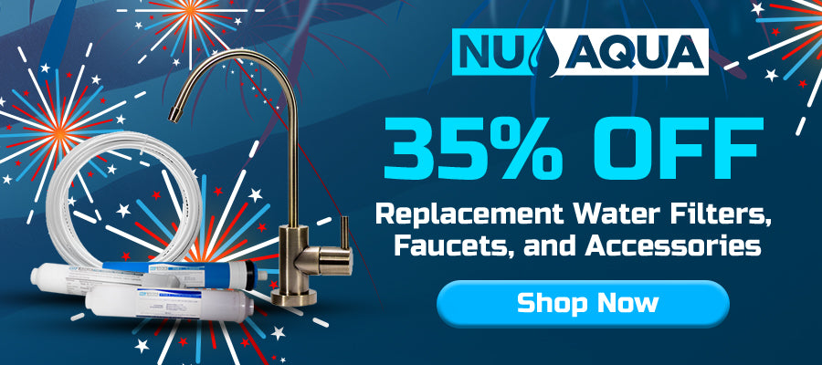 35% off replacement filters, faucets, parts, and accessories- Click here to shop!