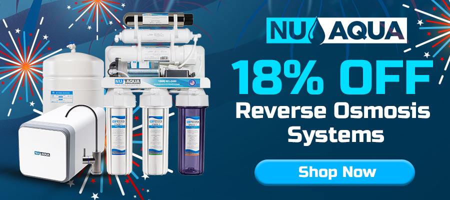 18% off Reverse Osmosis Systems- Click here to shop!