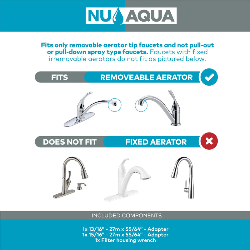 NU Aqua 8 Stage Alkaline Mineral Countertop Water Filter