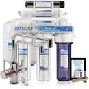 NU Aqua Platinum Series 6 Stage UV Ultraviolet 100GPD RO System No Drill Faucet Installation