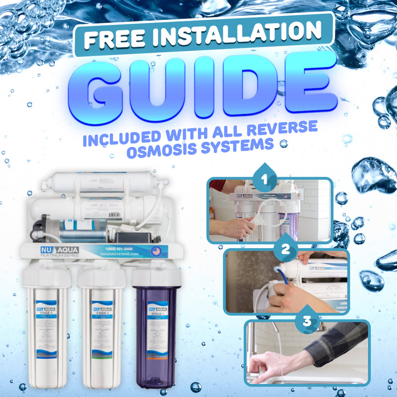 NU Aqua Platinum Series 7 Stage Alkaline and UV Ultraviolet 100GPD RO System with Booster Pump