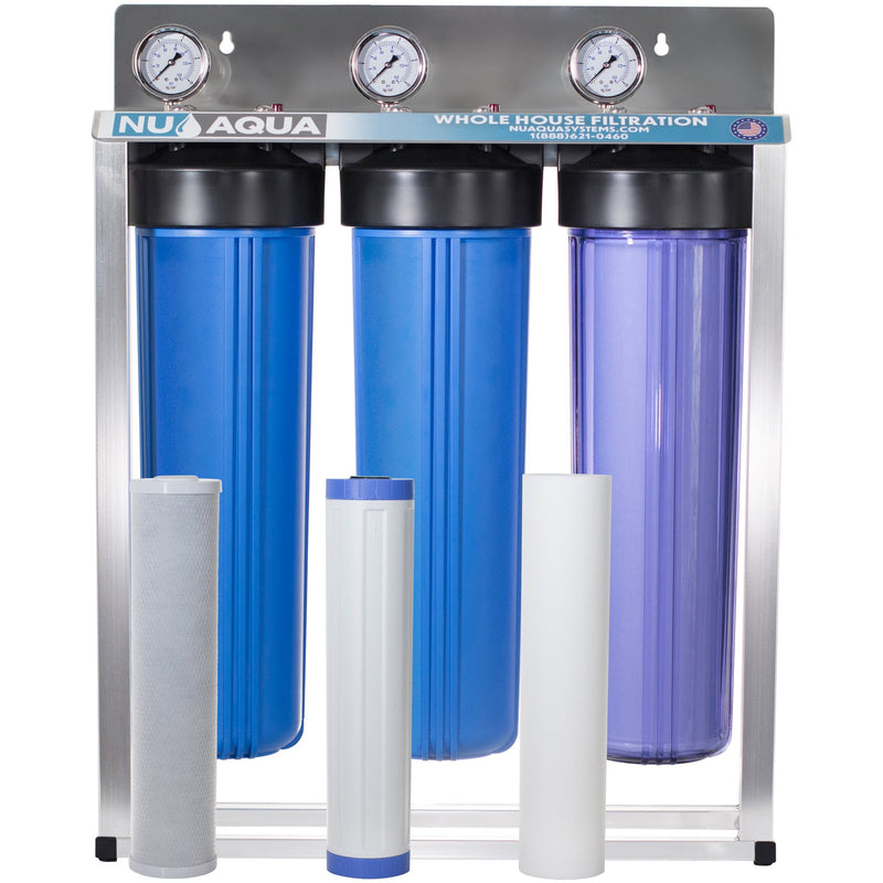 NU Aqua 3 Stage Whole House Water Filtration System