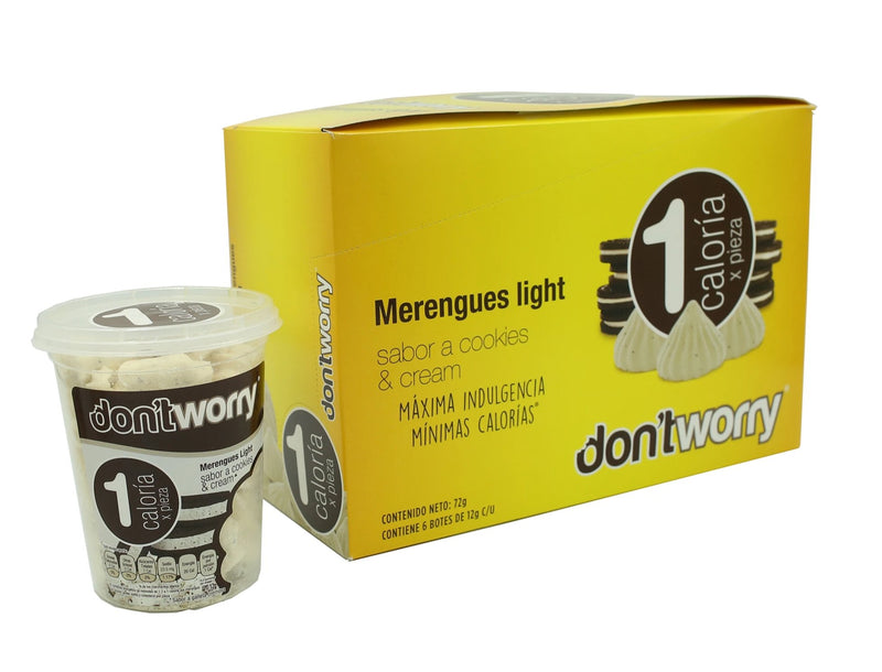 Merengue Don't Worry con solo 1 Cal Cookies & Cream 12g (OnTheGo)