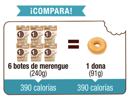 Merengue Don't Worry con solo 1 Cal Capuchino 40g