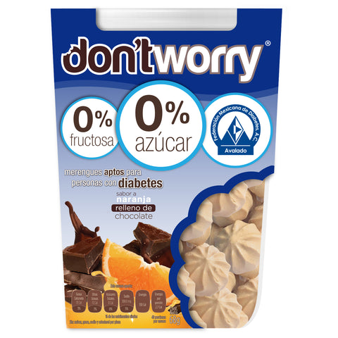 Merengue Don't Worry con solo 4 Cal Chocolate Relleno 68g