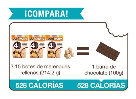 Merengue Don't Worry con solo 4 Cal Naranja Relleno 68g