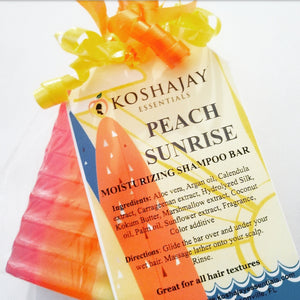 🌄   Peach Sunrise Moisturizing Shampoo Bar