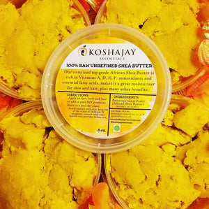 Golden/Ivory 100%  Raw Unrefined African Shea Butter 8 oz.