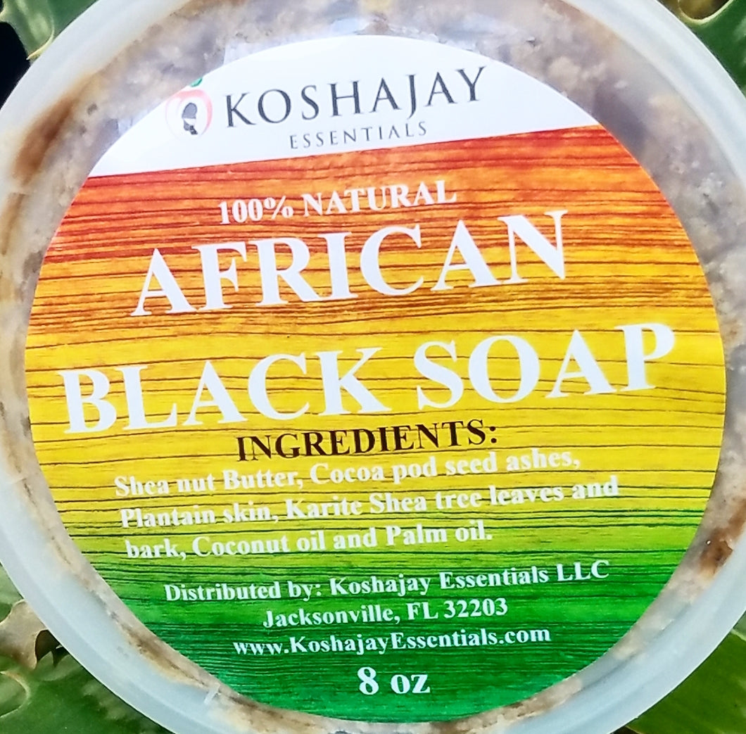 African Black Soap 8 oz. Fair Trade