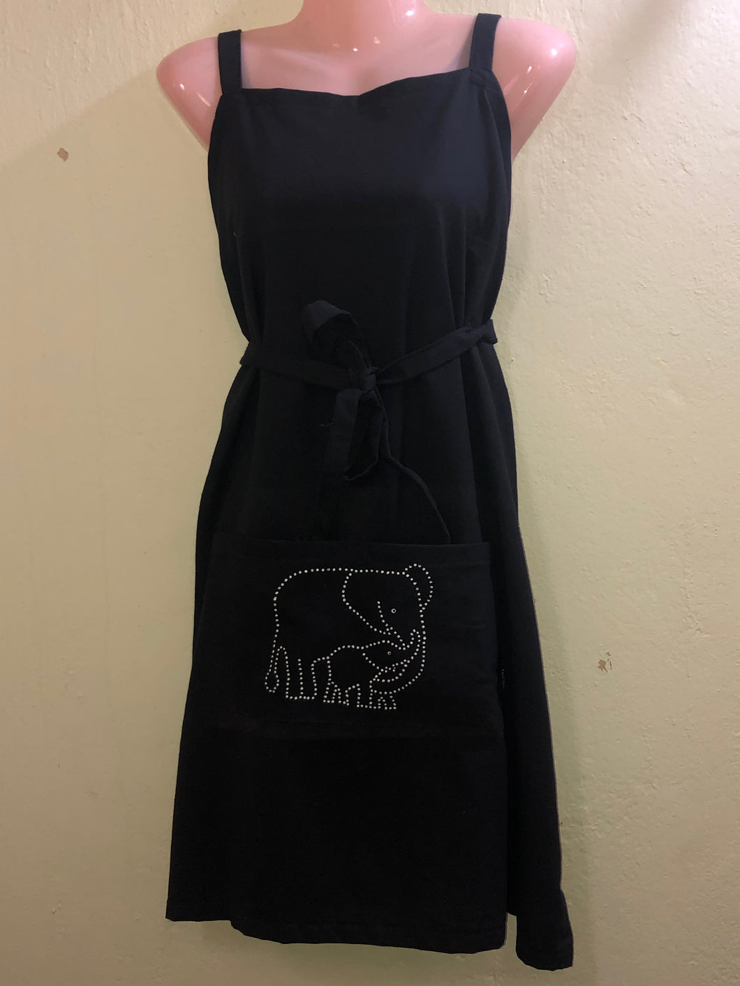 Mom and Baby Elephant Apron