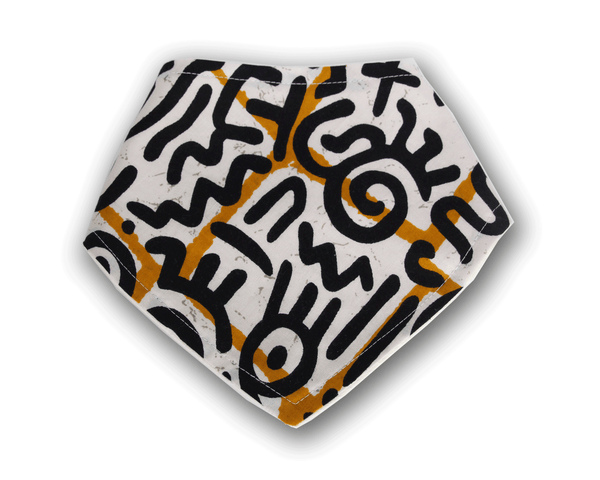 Adinkra - Bandana Bib - The Rooted Baby Co.
